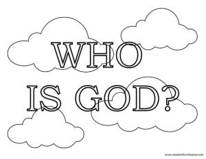 Who is God Coloring Page