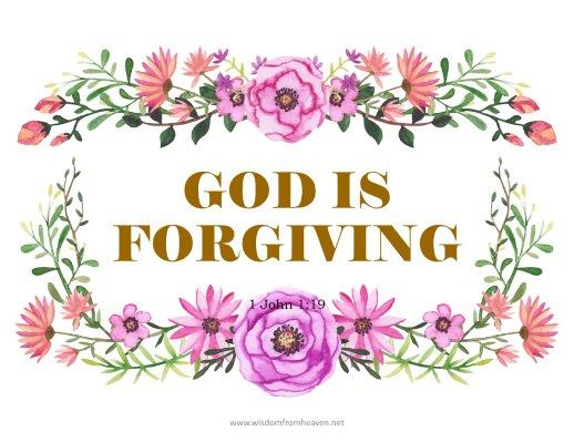 god is forgiving