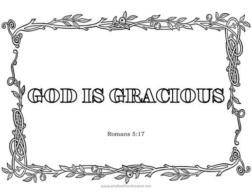 god is gracious