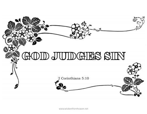 god judges sin