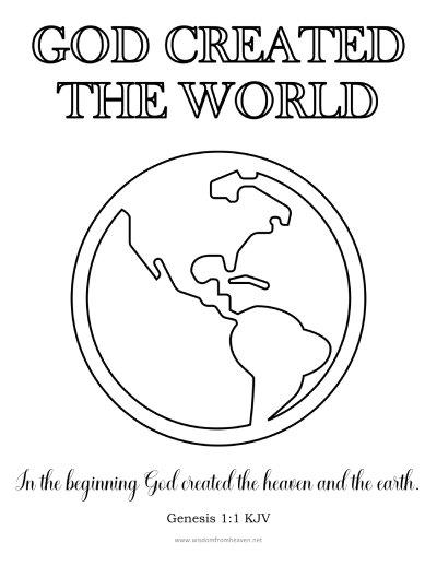 god created the world