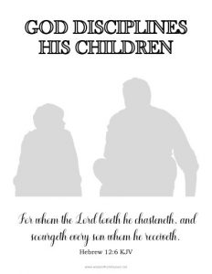 god disciplines his children