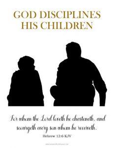 god disciplines his children