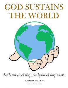 god sustains the world