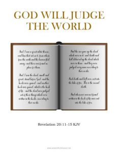 god will judge the world