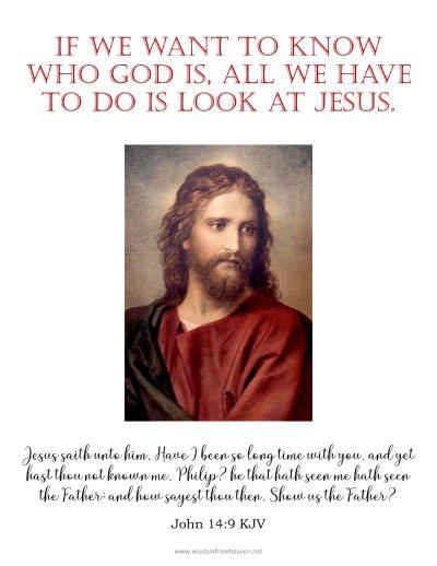 look at jesus