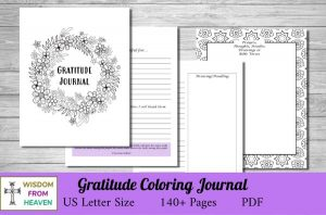 gratitude coloring journal