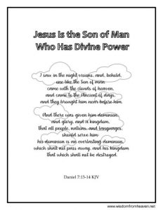 jesus is the son of man coloring page