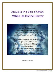 jesus is the son of man