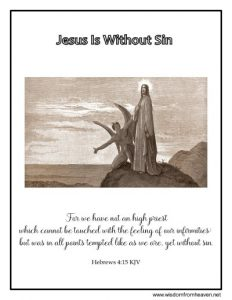 jesus is without sin coloring page