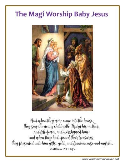 magi worship jesus image