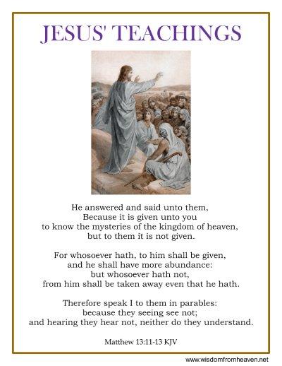 jesus teachings