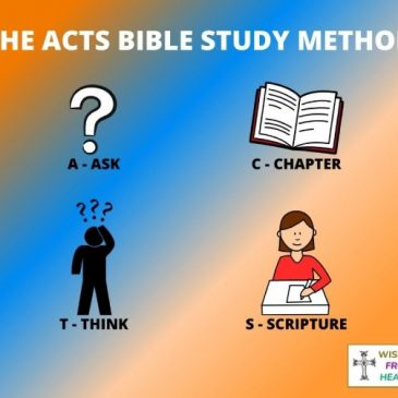 The ACTS Bible Study Method