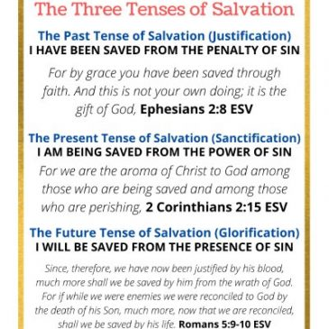 The Three Tenses of Salvation