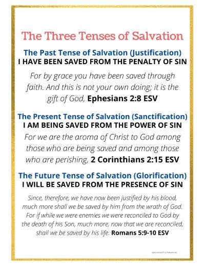 three tenses of salvation