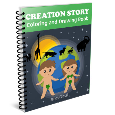 creation coloring and drawing book
