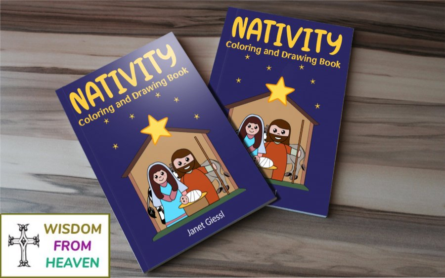 nativity coloring and drawing book