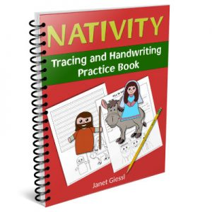 nativity tracing and handwriting practice book